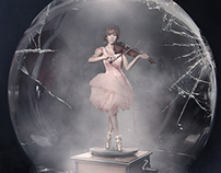 """Shatter Me"" album art Lindsey Stirling"