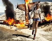 Photoshop Tutorial: Burning Airplane