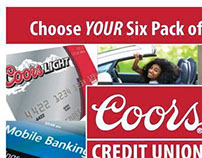 Coors Credit Union Six Pack Promotion