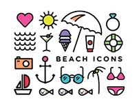 Beach Icons