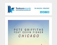 Newsletter Design - Toolroom Records