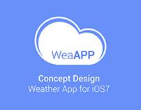 iOS 7 Weather App Concept
