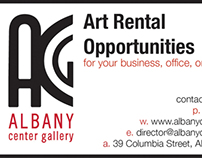 Albany Center Gallery Art Rental Business Card