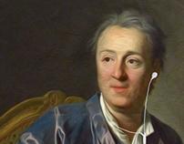 Retrato de Denis Diderot, 1767 (intervención)
