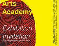 Arts Academy Exhibit poster