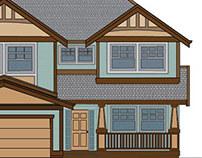Exterior elevation rendered in Illustrator.