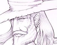 """""""Melquíades"""" Portrait (Gabo tribute, pencils, inks)"""