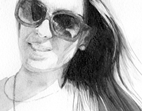 Girl with glasses portrait