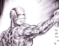 """""""Robo"""" Concept (Pencils, inks, W.I.P.)"""