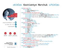 Programmer's CV