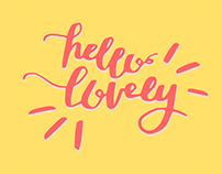 Hello Lovely | Hand Typography