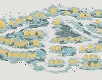 重庆金缕衣平面设计 | 依云国际小区地图