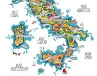 Vini Italiani Illustrated map