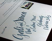 Gali & Simon's Wedding Invitation