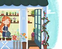 Ilustration · Flower Shop ·
