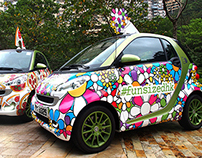 Smart Car Funsize Treats around Town