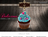 Cup cake web site psd srilanka
