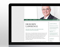 Dr Robin Lawrence Bespoke Website