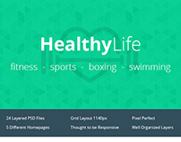 Fitness, Sport, Boxing, Swimming - Complete Theme
