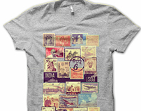 Indian Postage Stamps Tee