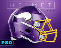 Football Helmet PSD Mockup for Schutt & Riddell