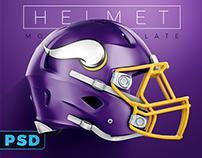 Football Helmet PSD Mockup for Schutt & Riddell