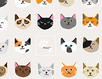 Collection of cat faces