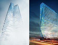 Glass Tower Vray 3dsmax