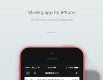 POCKETmsg - Concept mailing app for iOS