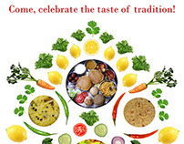 Print Ad for Madhurya- A Gujarati Restaurant