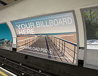 Public Transport Advertising Mockups