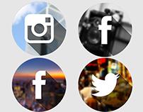 Flat Social City Icons