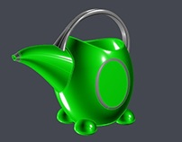 Green kids watering can CAD project