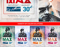 Dj Max Minimal Party Flyer Template