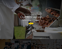 Divi Layout PSD For A Restaurant Business