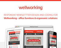 Newsletter Design & Coding - Wellworking