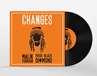 "Malik Ferraud ""Changes"" Official Release Album Cover"