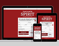 The Spirit interactive subscription form