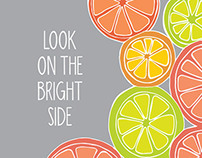 Look On The Bright Side Poster Print