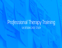 Professional Therapy Training UX Design