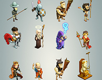 "Characters for the game ""Build an empire"""