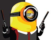 Minion from Despicable Me.. Hitman edition