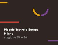 Piccolo Teatro / Season Calendar