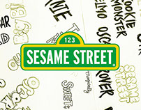 Sesame Street Typography and Graphics