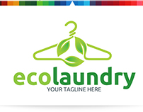 Eco Laundry   Logo Template