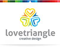 Love Triangle   Logo Template