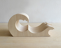 Wave Book Stand