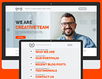 King On - One Page Creative Agency Theme