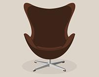 Arne Jacobsen Eggstol