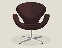 Svane Stol Arne Jacobsen